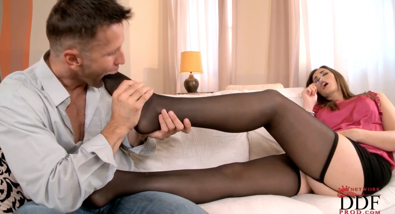 Sheer Stocking Footjob