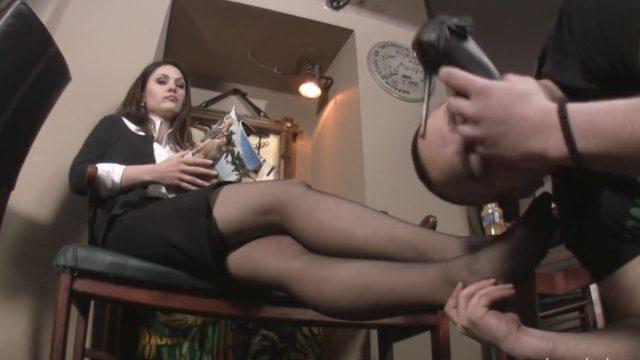 sheer black pantyhose worship