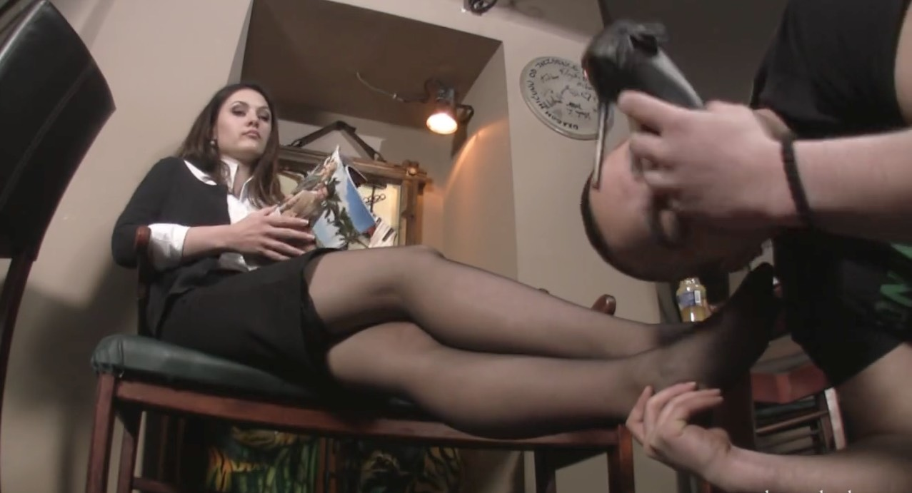 Sheer Black Pantyhose Worship