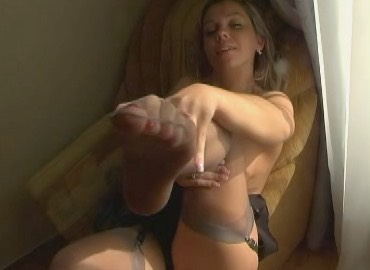 Pleasuring Herself in Sheer RHT's