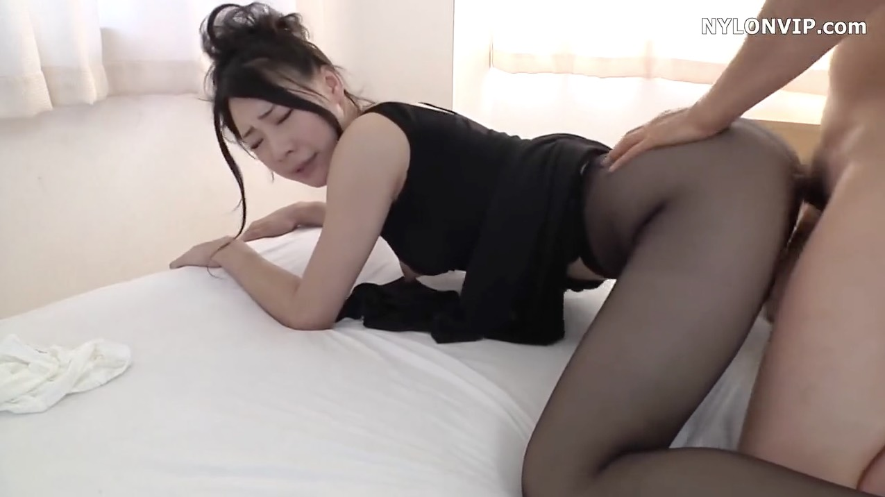 Japanese Coed in Pantyhose Getting Fucked