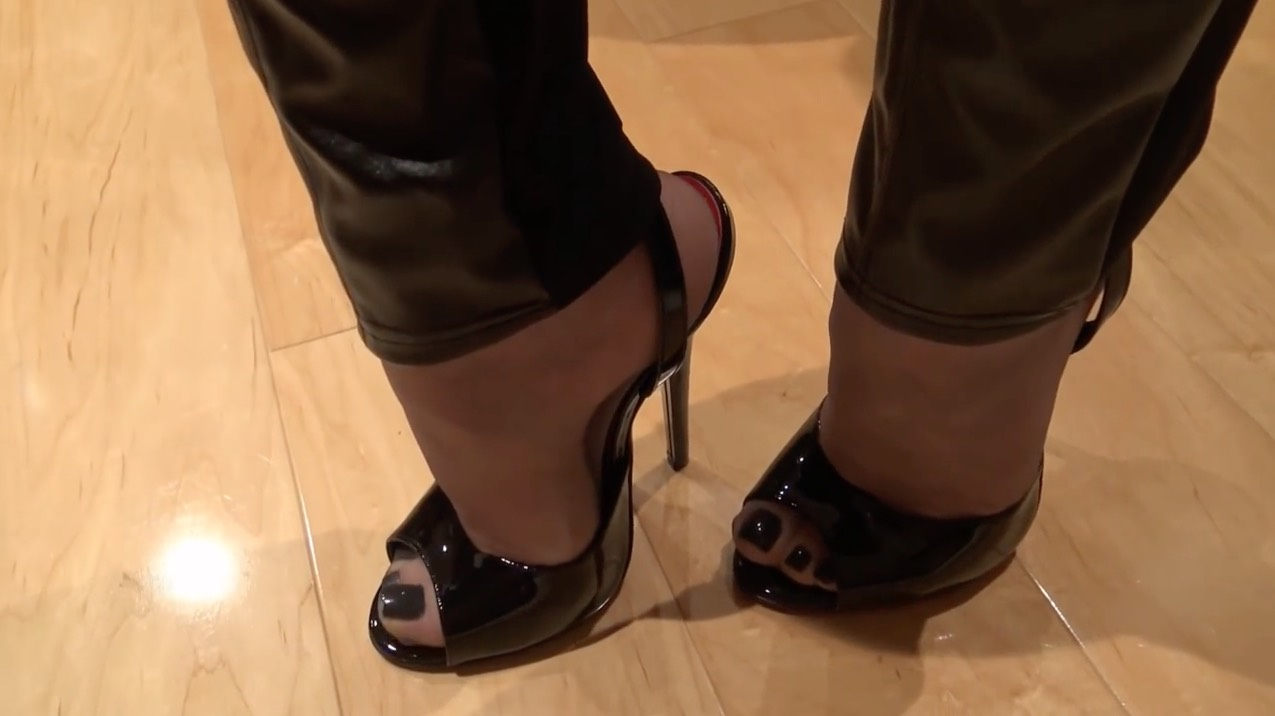 Hose and Patent Leather Heels