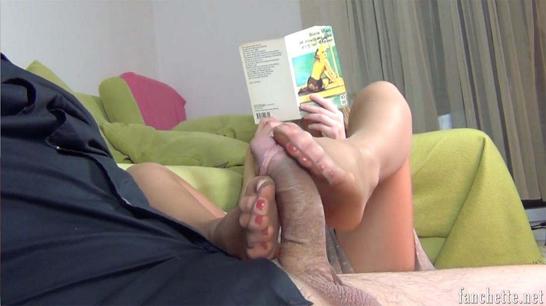 Sheer Pantyhosed Footjob