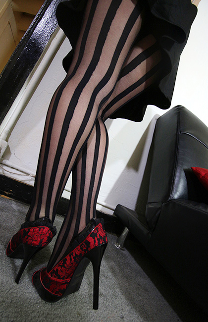 Sheer Striped Pantyhose