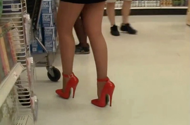 Fuck Me Red Pumps and Pantyhose