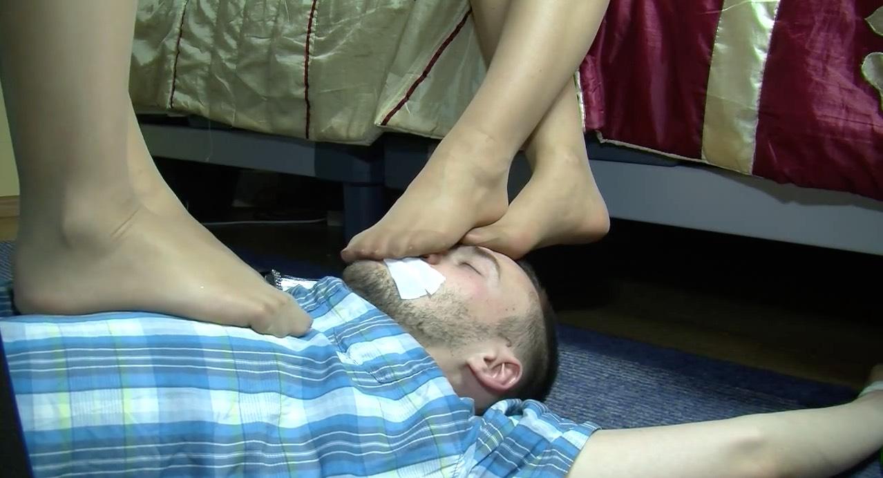 Dual Pantyhose Worship
