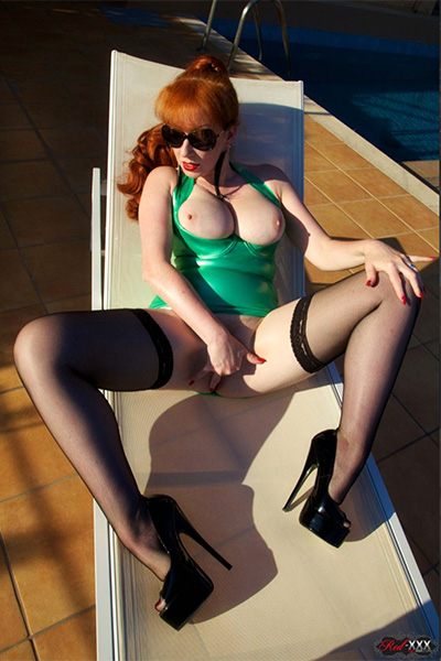 Mature Redhead in Stockings